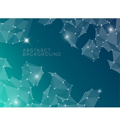 Abstract blue background made from triangles vector image