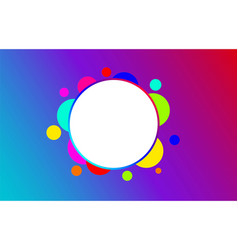 abstract circle background modern design vector image
