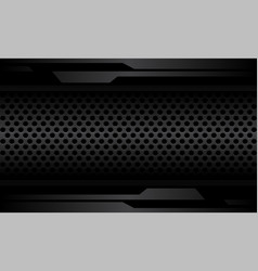 Abstract dark grey cyber line on circle mesh vector
