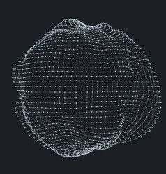 Abstract grayscale mesh distorted vector