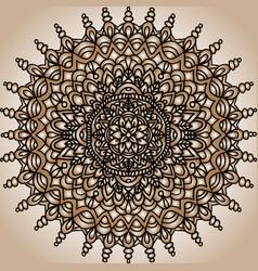 abstract mandala ornament asian pattern golden vector image