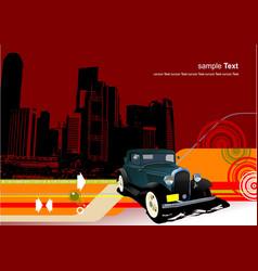 abstract urban hi-tech background vector image