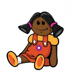 african-american doll vector image