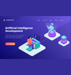 Ai artificial intelligence development concept vector
