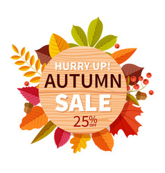 autumn sale background autumnal seasonal shopping vector image