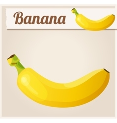 Banana Detailed icon vector image