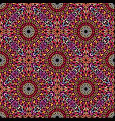 Bohemian multicolored seamless oriental floral vector
