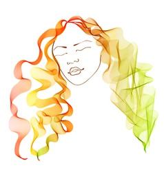 Bright hair vector