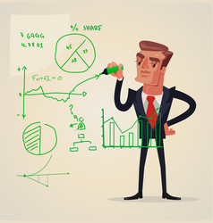 Businessman make presentation vector