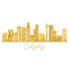 Calgary city skyline golden silhouette vector