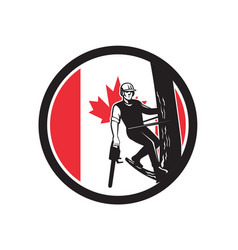 Canadian tree surgeon canada flag icon vector