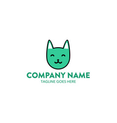 cat logo-3 vector image