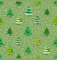 christmas trees seamless pattern vector image