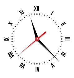 clock on white background vector image