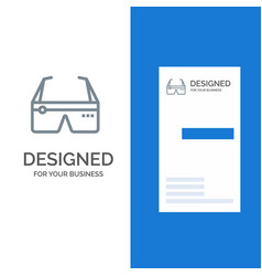 Computer computing digital glasses google grey vector