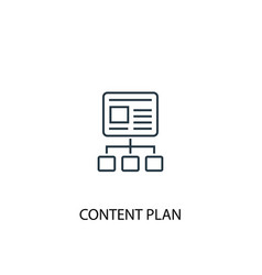 Content plan concept line icon simple element vector