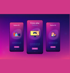 cross-platform play app interface template vector image