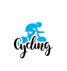 Cycling logo lettring vector