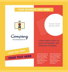 Danger board company brochure template busienss vector