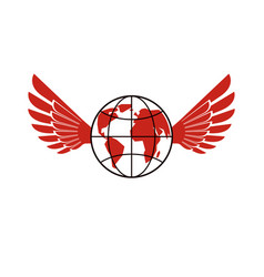 Earth planet winged power of global information vector