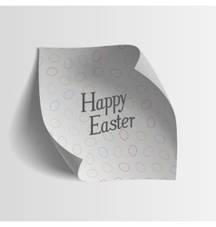 Easter greeting Card Template Paper Sheet vector