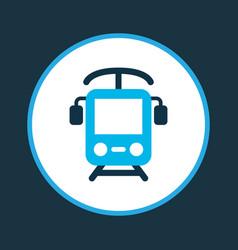 electric train icon colored symbol premium vector image