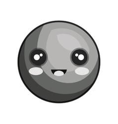 emoticon kawaii style icon vector image