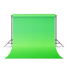 Empty photo studio hromakey modern photo vector