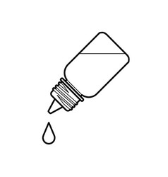 eye drop bottle isolate on white background vector image