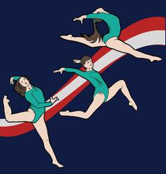 female gymnasts vector image