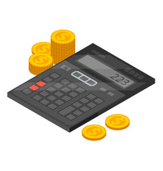 Financial calculator icon isometric style vector