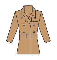 Flat color coat icon vector