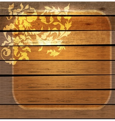 floral ornament over wood vector image