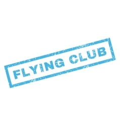 Flying Club Rubber Stamp vector image