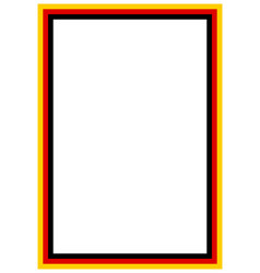 German flag page borderr a4 design for project vector