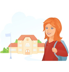 Girl at the school vector