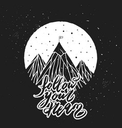 Hand drawn mountain vector