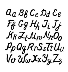 Handwritten cursive English alphabet vector