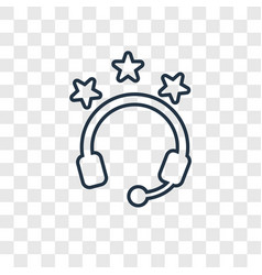 headphones concept linear icon isolated on vector image