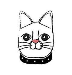 Japanese lucky cat symbolic talisman toy tradition vector
