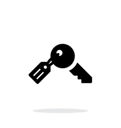 Key with label icon on white background vector image