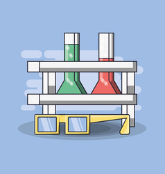 laboratory equipment science chemistry education vector image
