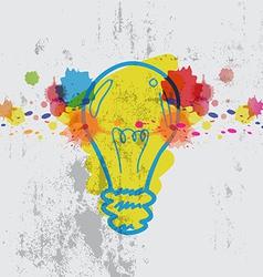 lamp with watercolor splash vector image