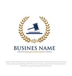 Law logo designs vector