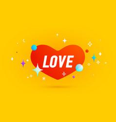 love banner speech bubble vector image