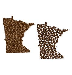 Minnesota - map of coffee bean vector