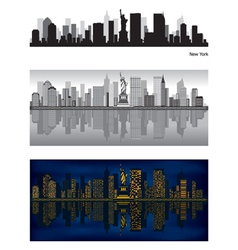 new york city skyline vector image vector image