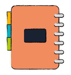 Office notebook with tabs vector