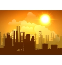 Oil Refinery Poster vector