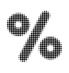 percent halftone dotted icon vector image